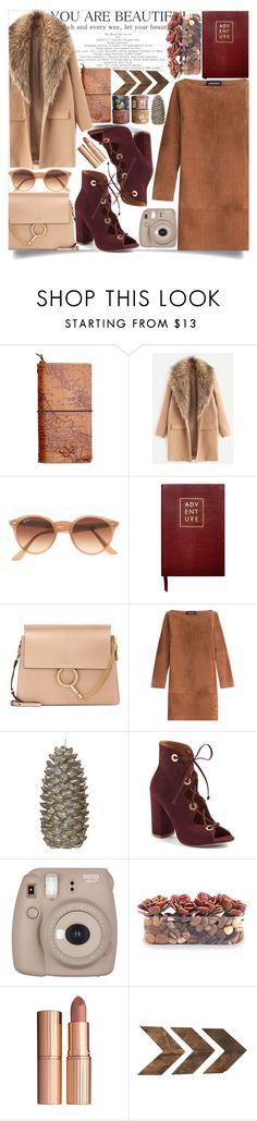 """#304"" by vilte-m ❤ liked on Polyvore featuring Patricia Nash, Ray-Ban, Sloane Stationery, Chloé, Vanessa Seward, Steve Madden, Fujifilm, John-Richard, Charlotte Tilbury and WALL"