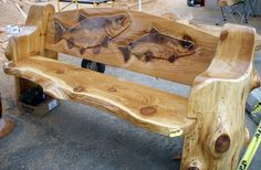 Carved Log Bench | was impressed with the skill and artistry of all the carvers. This ...
