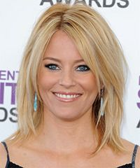 Elizabeth Banks Hairstyle: Casual Medium Straight Hairstyle