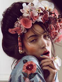 ELLE, Geisha, Photo Signe Vilstrup, retouch Werkstette