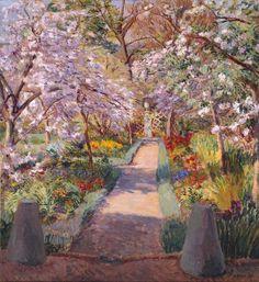 ❀ Blooming Brushwork ❀ garden and still life flower paintings - Duncan Grant | Garden Path in Spring