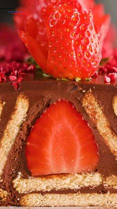 kochen und backen Strawberries & chocolate are at the top of our food pyramid Easy Cake Recipes, Best Dessert Recipes, Fun Desserts, Baking Recipes, Sweet Recipes, Delicious Desserts, Snack Recipes, Yummy Food, Tasty
