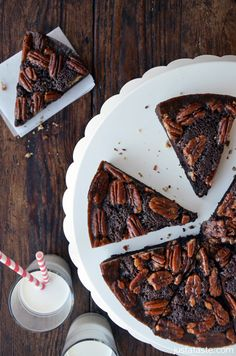 Pecan Pie Brownies from justataste.com #recipe