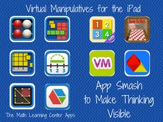 TOUCH this image: iPad Math Tools (App-Smash to Make Thinking Visible) by Meghan Zigmond