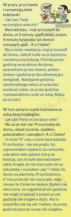 Upojny wieczór :) Scary Funny, Wtf Funny, Weekend Humor, Text Memes, Funny Stories, Man Humor, Good Mood, Funny Moments, Motivation Inspiration