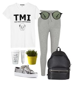 """Lazy Tuesday's"" by barelyforeignview on Polyvore featuring T By Alexander Wang, Rebecca Minkoff, Black Score, Ray-Ban, Yves Saint Laurent, Muuto and Byredo"