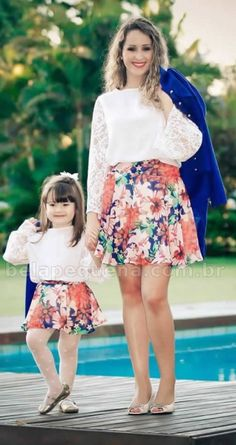 Outfits madre e hija Mother Daughter Fashion, Mother Daughter Matching Outfits, Mom Daughter, Mom And Baby Outfits, Family Outfits, Girl Outfits, Kids Fashion, Girls Dresses, Amazon