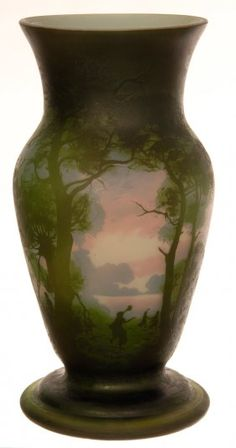 """13"""" SIGNED MULLER FRES LUNEVILLE FRENCH CAMEO ART GLASS : Lot 348"""
