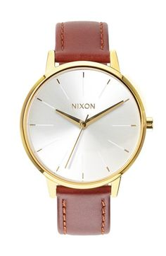 Free shipping and returns on Nixon 'The Kensington' Leather Strap Watch, 37mm at Nordstrom.com. A slender bezel and slim etched indexes lend understated class to a round leather-strap watch that strikes a classic note in timeless hues and textures.