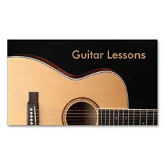 Business Card: Guitar Lessons. I love this design! It is available for customization or ready to buy as is. All you need is to add your business info to this template then place the order. It will ship within 24 hours. Just click the image to make your own!