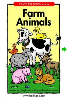 PRESCHOOL TO KINDERGARTEN readers will enjoy this simple book that introduces seven charming farm animals, most of which will be familiar to the reader. The playful illustrations support one-to-one picture to text correspondence. A discussion question after the reading helps build interest and comprehension. Learner objectives: main idea and details, categorize.