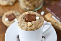 Giant S'mores Cookies Apple Pie Bars - Cooking Classy Reese's S'Mores! {plus more S'Mores Recipes! Just Desserts, Delicious Desserts, Yummy Food, Yummy Yummy, Delish, Churros, Smores Cookies, Mini Cookies, Candy Cookies