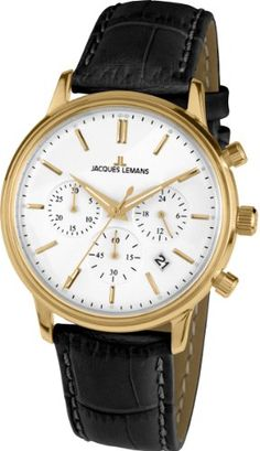7b2d05004d38 Jacques Lemans Nostalgie Mens Chronograph Classic  amp  Simple Jacques  Lemans http   www