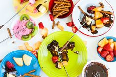 Food Photography by Aubrie LeGault #fondue #dessert