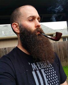 """Smoking and thinking about good things to come. #lookatmyuglymuglookatit #behindblueeyes #beardporn #ripchin #beardthefuckup #noshavenation #noshavenever…"""