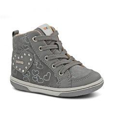 Ghete pentru fete, marca Geox. Fall Winter, Autumn, High Tops, High Top Sneakers, Grey, Shoes, Fashion, Fall Season, Gray