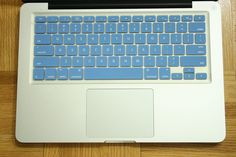"Light Blue Macbook Silicone Keyboard Cover Protector - Fits ALL UNITED STATES Macooks Pro Air 13"",15"",17"". $6.99, via Etsy."