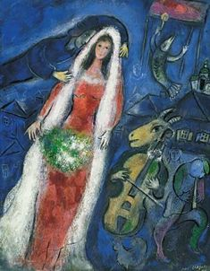 Marc Chagall love and goat with violin