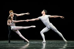Ryoichi Hirano, Lauren Cuthbertson, and Edward Watson in Song of The Earth © 2015 ROH. Photograph by Bill Cooper   Ryoichi Hirano, Lauren Cuthbertson and Edward Watson