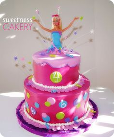 """Barbie """"popping out of cake"""" Birthday Cake"""