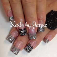 Pinterest | Acrylic Nails, Acrylic Nails Glitter and White Gel Nails