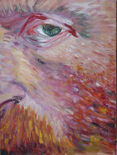 "Possessed, 24"" x 18"" acrylic on canvas"