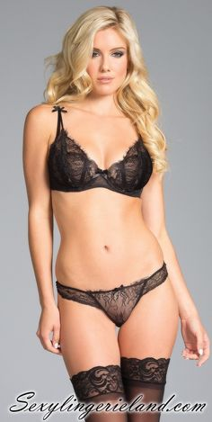 02c47c7ff Black  lace  lingerie set is comfortable and sexy. Made of quality  materials