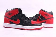 Nike Shoes: Black/Red Jordan 1 Retro Sports Trainer Online Release