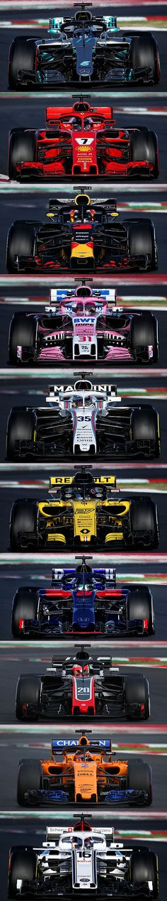 Machine images of all teams side by side comparison! F1 Motorsport, Motorsport Events, F1 Racing, Drag Racing, Machine Image, Ferrari F12berlinetta, Weird Cars, Lamborghini Gallardo, Formula One