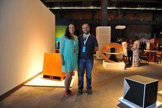 No stand da Bolsa de Arte Galeria, a Mameluca dos designers Ale Clark e Nuno Franco de Souza, apresenta artes visuais como inspiração para suas peças de design.