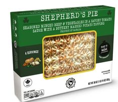 You'll notice Aldi is leaning in to the St. Patrick's Day theme this month. Find this ready-to-bake shepherd's pie in the frozen aisle starting March 3. Potato Toppings, Frozen Meals, Deli, St Patrick, Mashed Potatoes, March, Pie, Baking, Vegetables