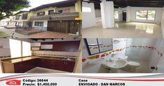 CASA,EN ENVIGADO, SAN MARCOS, equipado con sala comedor, cocina integral, red de gas, balcón, cuarto útil, 5 alcobas, 3 baños, 3 closets, y 2 patios. CON 138 MTS. INTERESADOS COMUNICARSE AL 4446868 EXT 137 O AL WHATSAPP: 318 3599161. TAMBIÉN PUEDEN DIRIGIRSE A LA PAGINA WEB www.arrendamientosenvigadosa.com.co Y EN OPCIÓN BÚSQUEDA PONER EL NUMERO DE REFERENCIA PARA VER EL VÍDEO Y LAS DEMÁS FOTOS DEL INMUEBLE .