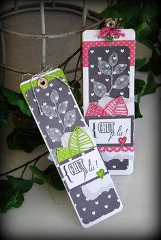 Groseilles & CO: Du scrap avec des cartes et leurs marque-page assortis..
