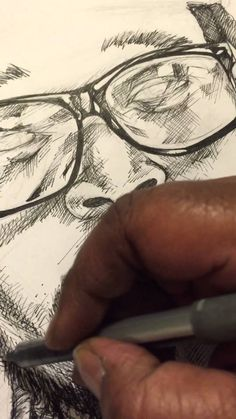 Inking  Man with Locs