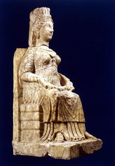 Statue of a seated woman from Hatra, Iraq