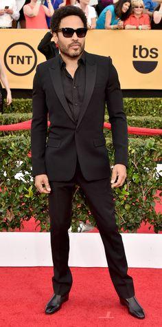 SAG 2015 Red Carpet Arrivals - Lenny Kravitz from #InStyle