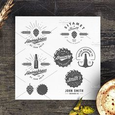 Vintage brewery logos and emblems by 1baranov on @creativemarket