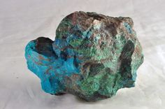 The Stone of King Solomon (or Eilat Stone) is the national stone of Israel and is found ONLY in Israel. It was mined near Eilat in what is known as King Solomon's copper mines. It has not been mined since the 1970s. Eilat Stone is a mixture of several secondary copper minerals including malachite, azurite, turquoise, pseudomalachite, chrysocolla. Photo credit: holylandgal on Flickr.