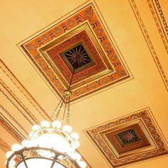 Beautiful ceilings at Rackham Graduate school.