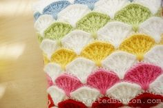 Pillow and Afghan Crochet Pattern, Paintbrush Colorful by FeltedButton on Etsy https://www.etsy.com/listing/128101595/pillow-and-afghan-crochet-pattern