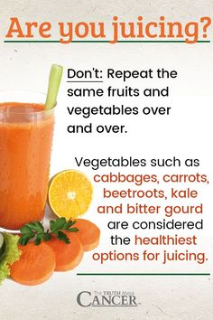 Are you juicing? Don't repeat the same fruits & vegetables over & over. Vegetables such as cabbages, carrots, beetroots, kale & bitter gourd are considered the healthiest options for juicing. Click through to learn more about 10 of Ty Bollinger's favorite healthy, nutrient-dense green foods that are top-notch additions to your green drinks, juice, or smoothies. Please re-pin to share with your friends. Join us for much more great information on The Truth About Cancer!