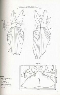 drape drape dress no5   Patterns sewing: