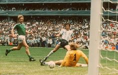 Argentina 3 West Germany 2 in 1986 in Mexico City. Jorge Valdano makes it 2-0 on 56 minutes in the World Cup Final.