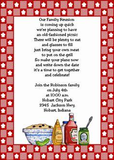 Family Reunion Invitations | Family Reunion Party Invitations | Party Ideas