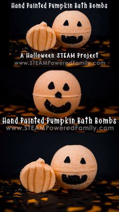 Homemade Pumpkin Bath Bombs are perfect for Halloween STEAM activities with your tweens and teens. The hand painted faces add a personal, artistic touch! Halloween Activities For Kids, Steam Activities, Halloween Pumpkins, Halloween Diy, Halloween Favors, Glow Party Food, Halloween Bath Bombs, Painted Faces, Hand Painted