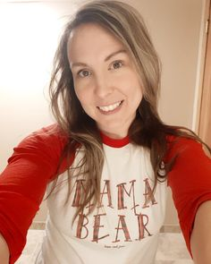 Mama Bear is super comfy during quarantine in her custom made raglan. Her littlest cub once had a matching onesie but he has… Onesies, Comfy, Bear, T Shirts For Women, Shopping, Clothes, Fashion, Outfit, Clothing