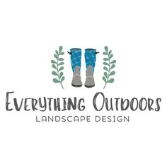 Premade Logo - Garden Boots Logo - Customized with Your Business Name!