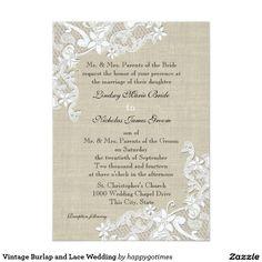 Vintage Burlap and Lace Wedding