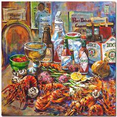 Louisiana Art - La Table de Fruits de Mer - Dianne Parks