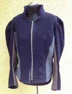 WOMEN 2014 flanell kurzjacke blau/grau/taupe